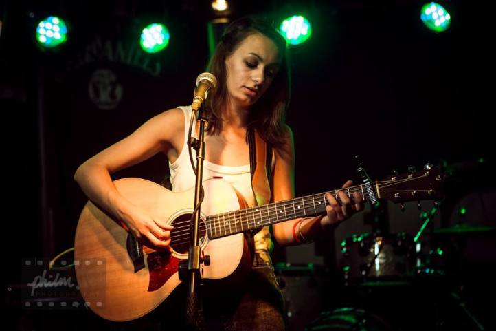 Claudia Stark playing at The Boileroom Guildford, Taylor Guitars