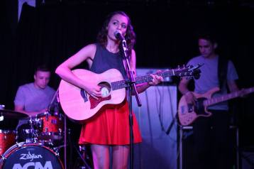 Claudia Stark playing at ACM Guildford, Full Band, Taylor Guitars