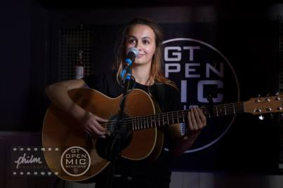 Claudia Stark playing at The Kings Head Guildford, Taylor Guitars